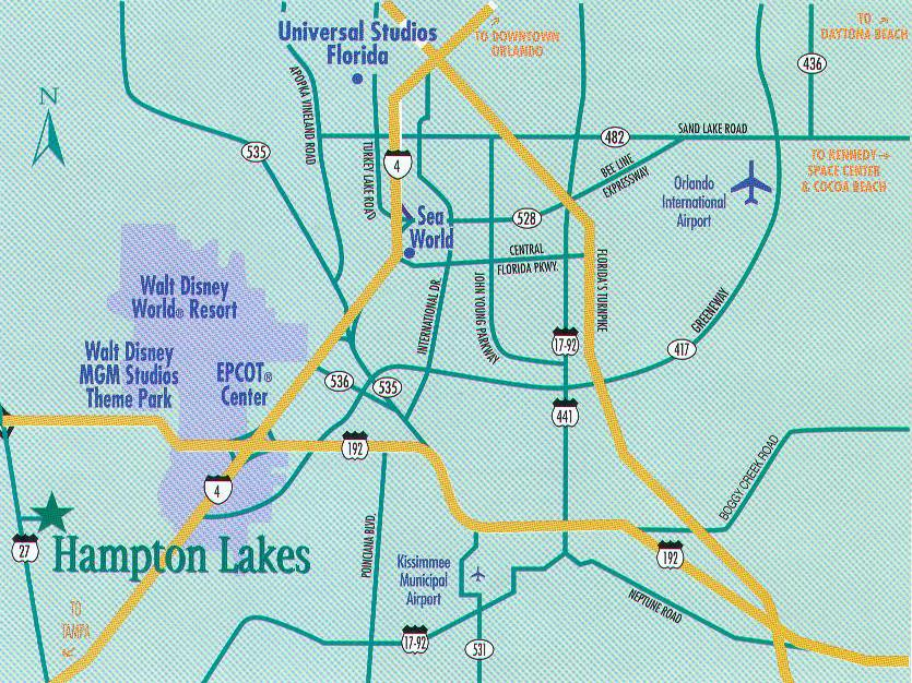 hampton lakes florida map